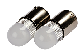 LED R5W BA15S 2W VIT 2-PACK