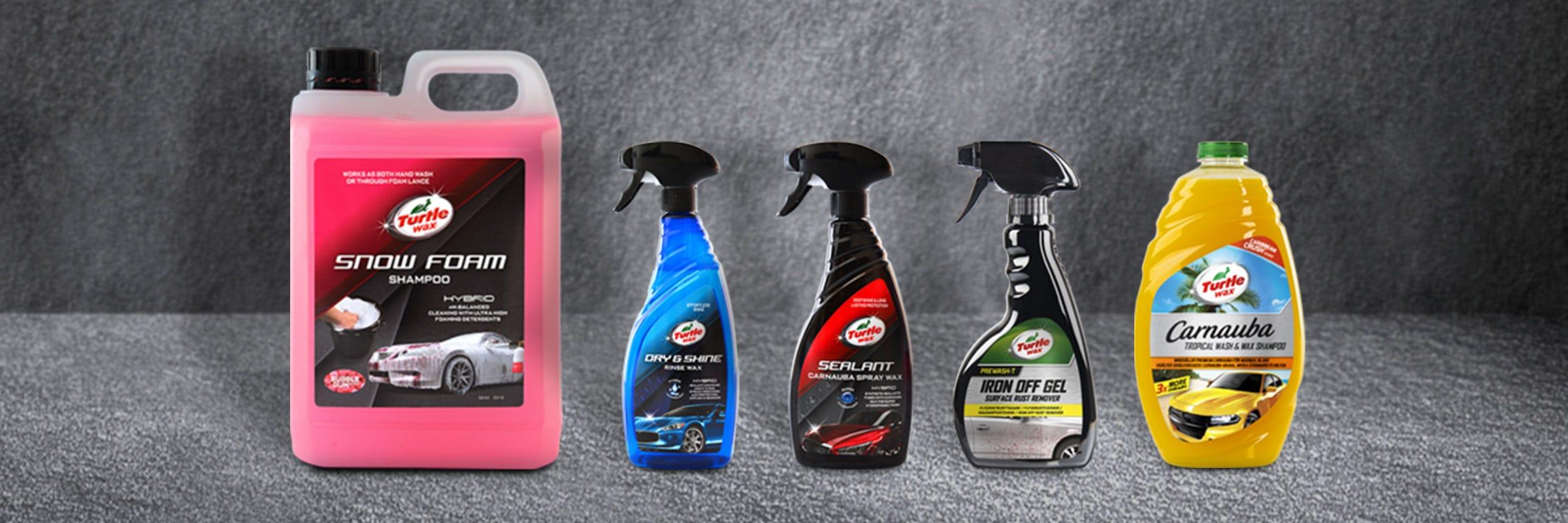 Kampanj på produkter från Turtle Wax